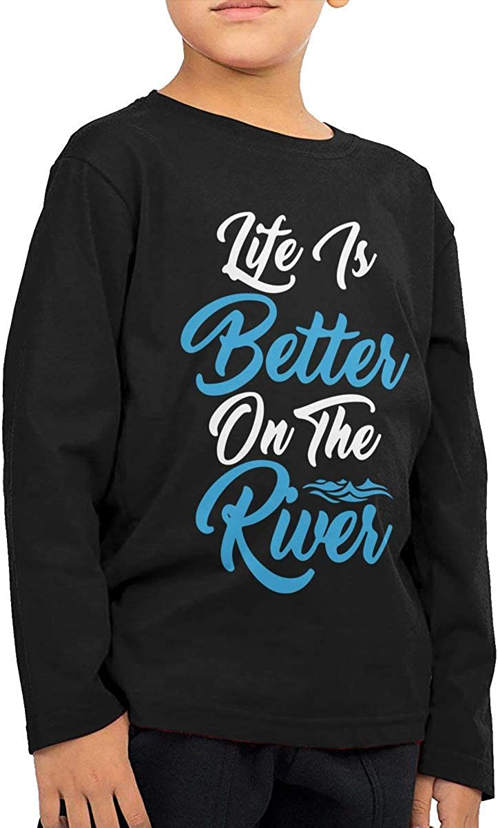 Childrens Life is Better On The River ComfortSoft Long Sleeve Shirt