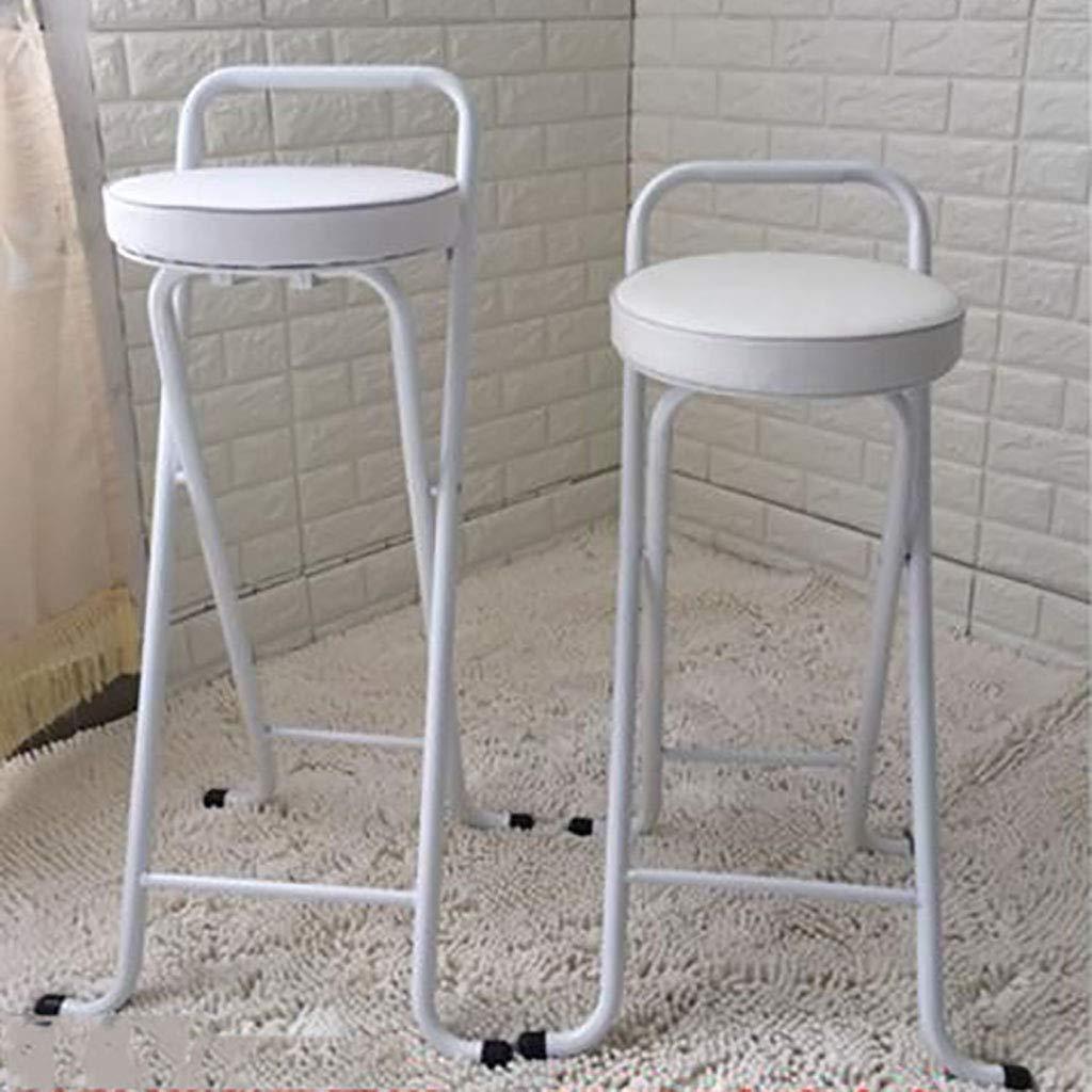 Amazon.com: Taburete plegable redondo acolchado, silla alta ...