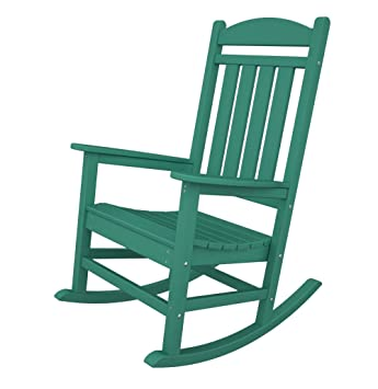 Polywood Adirondack Presidential Rocking Chair Color Aruba