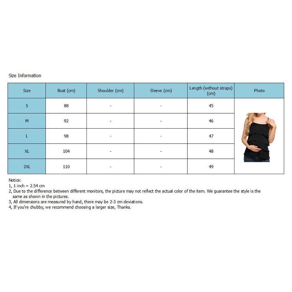 Rundhalsausschnitt junkai Damen Umstandsmode Oberteil Tops Sommer Stillzeit Tanktops /Ärmellos Stillen Kleidung T-Shirt Layered Design