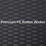 GREARDEN 3PCS PE Rattan Wicker Sofa Sets Patio