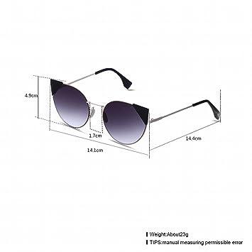 Damen-Mode Casual Katze Auge Sonnenbrille Schwarz-Gerahmt Schwarz Grau , Goldrahmenteeobjektiv