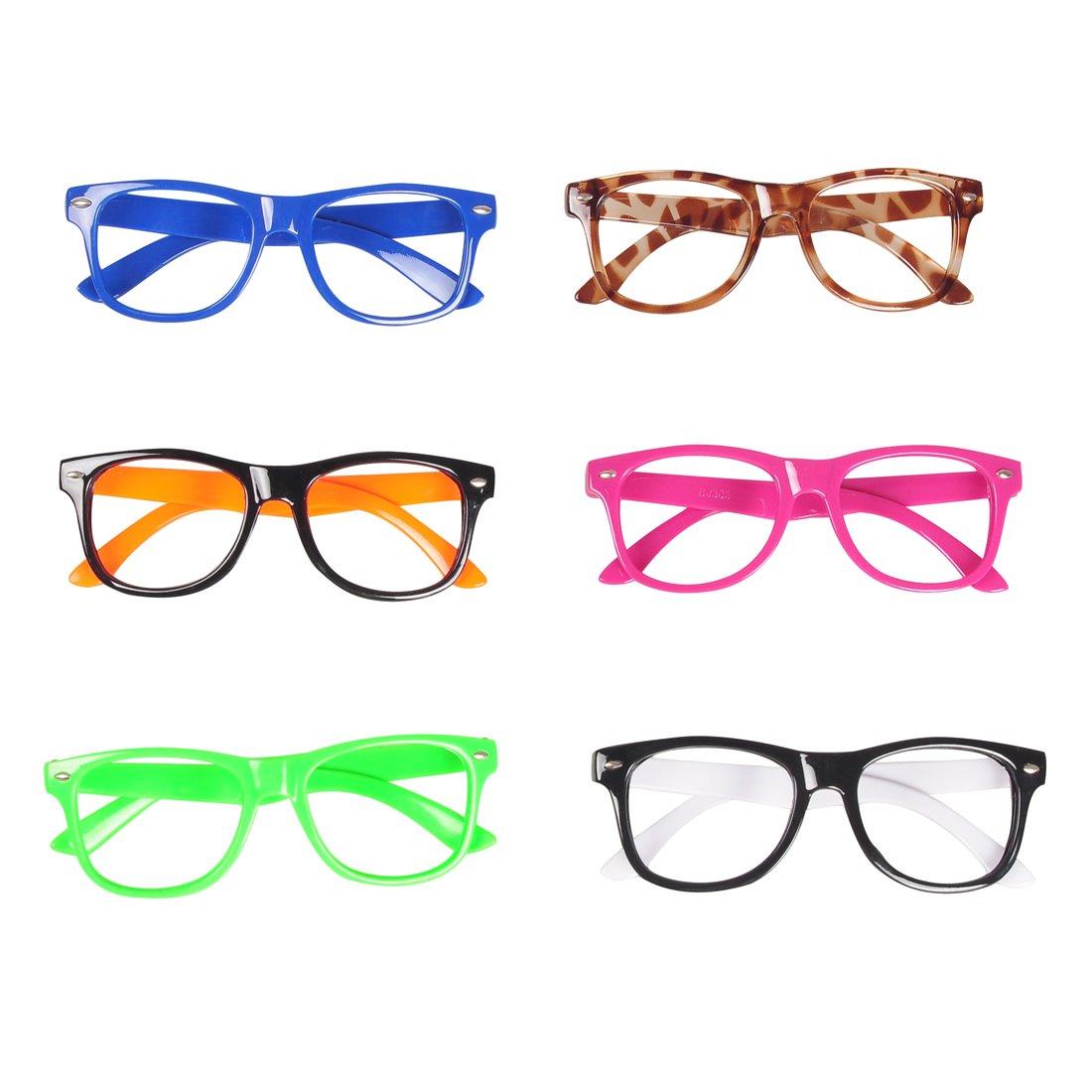c35e8d21230 Amazon.com  Seekingtag Children Stylish Cute Glasses Frame Without Lenses