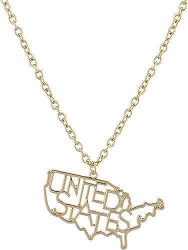 Lux Accessories Burnish Silver California State CA Shape Charm Necklace