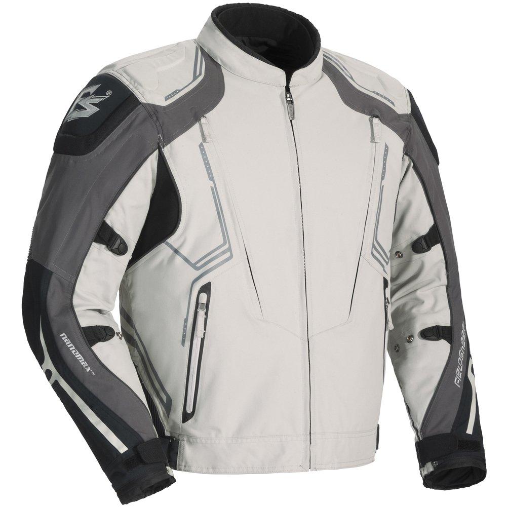 Fieldsheer Sugo Tour Men's Textile Sports Bike Motorcycle Jacket - Black/Silver / Large