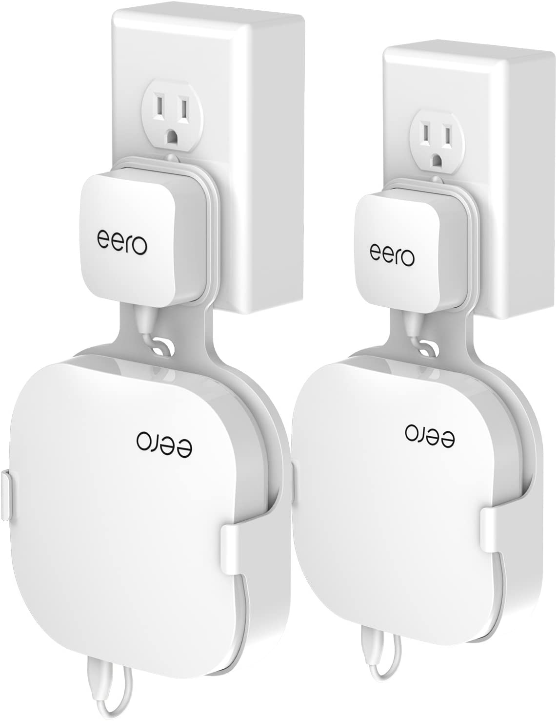 Wall Mount for eero Home WiFi and eero Pro WiFi Reinforced 3 Pack Enlarging Coverage Outlet Holder Stand Bracket for eero Pro and eero Home WiFi System Router