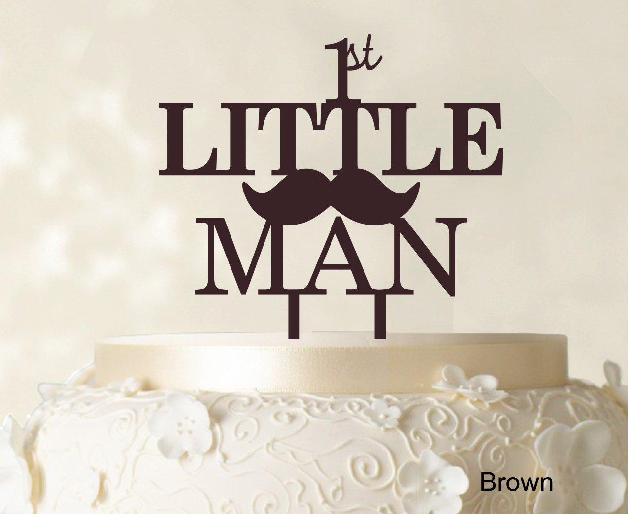 1st Little Manbirthday Cake Topper Elegant Moustache Cake Topper