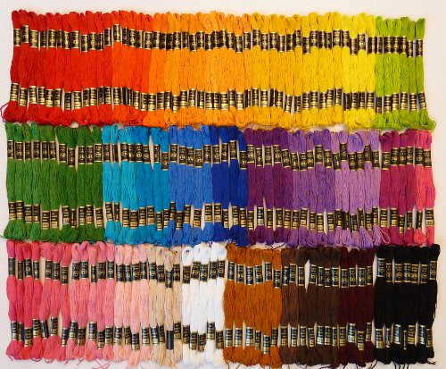 (Iris Embroidery Floss - Lot of 150 Skeins - 35 Assorted Colors, 8.75 Yards)