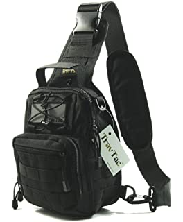 Amazon.com : TravTac Stage I Small Premium EDC Tactical Sling Pack ...