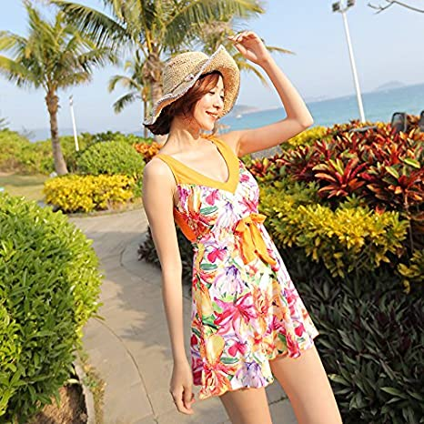 Dhwm Womens One Piece Swimsuit Conservative Skirt Style Sexy Video Thin Black