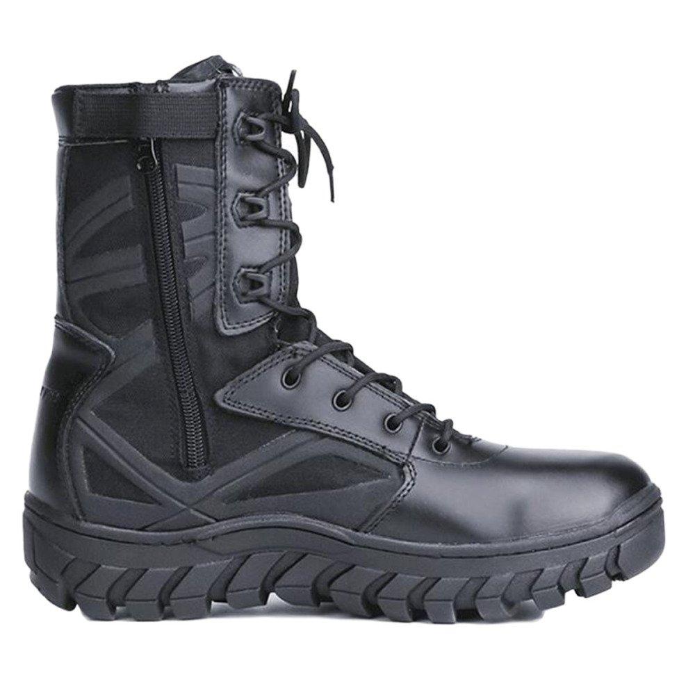 nihiug Scarponi da Trekking per Uomo Impermeabili Leggero High Rise Antiscivolo Stivali Tattici Stivali Militari Forze Speciali