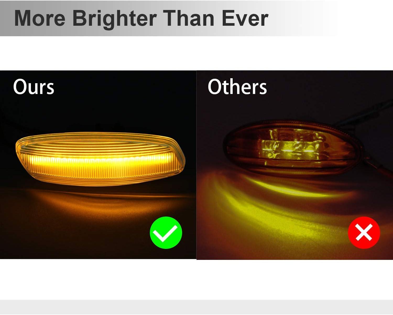 OZ-LAMPE Indicateur lat/éral dynamique Clignotant Feu de signalisation lat/éral clair Pour Peugeo-t 106 II 306 406 806 Expert Partner Citroe-n Berlingo Jumpy Saxo Xantia//XM//Xsara//ZX Break Fia-t