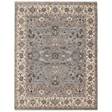 Magi Hand-knotted Faith Grey/ Beige New Zealand Wool Rug (6' x 9')