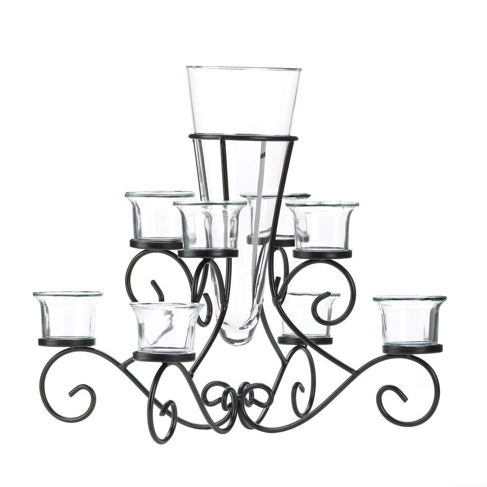 Amazon.com: Koehler Holiday Season Home Decor Scrollwork Candle ...