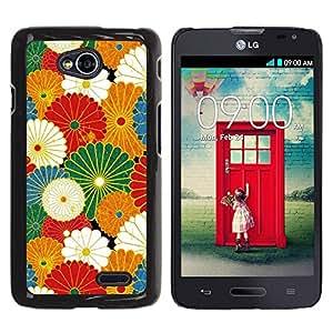 Be Good Phone Accessory // Dura Cáscara cubierta Protectora Caso Carcasa Funda de Protección para LG Optimus L70 / LS620 / D325 / MS323 // Rustic Vintage Wallpaper Summer