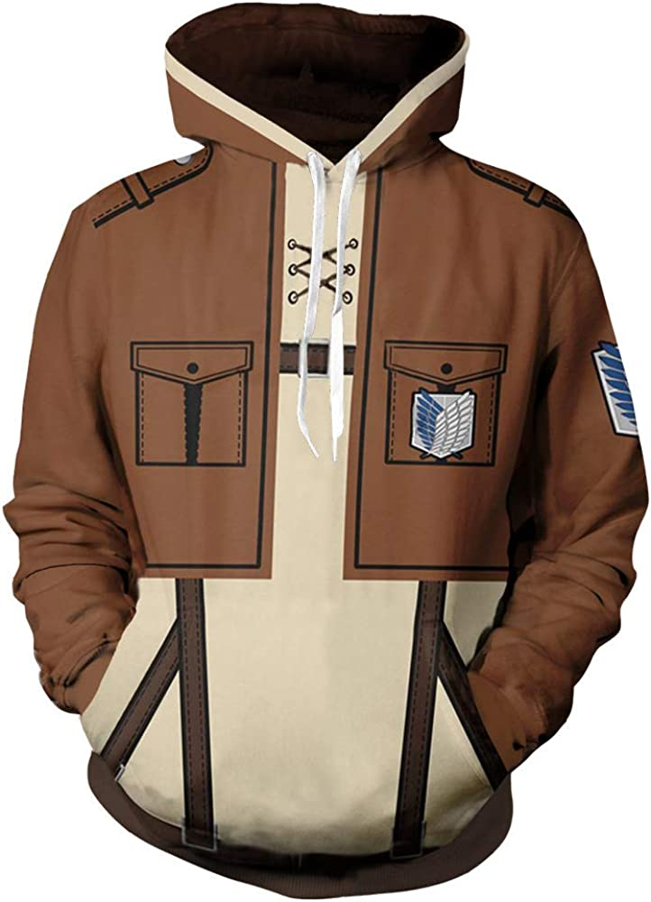 Attack on Titan Pullover Pullover Hooded Sweatshirt Leisure Popular Long Sleeve Tops Loose Sweater Unisex