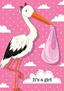 "Briarwood Lane It's A Girl Stork Garden Flag Baby Shower Birth 12.5"" x 18"""