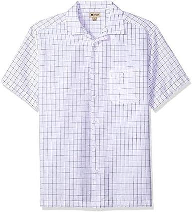Haggar Camisa de Manga Corta con Textura para Hombre Grande y Alto, Grande y Alto