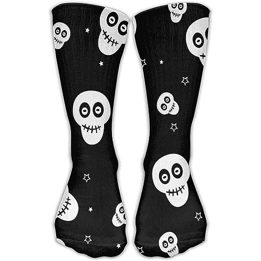 abe39a052 Amazon.com  Shi Fu Unisex Design Skull-pattern Knee High Long Stockings  Adults Personalized Socks Sport Crew Socks For Men Women  Clothing