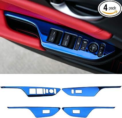 For 2017 Honda Civic 10th Air Conditioner Switch Decor Ring Cover Trim 2 PCS//set
