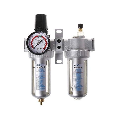 Longsw 1/4 pulgadas separador de aceite de agua Compresor de aire Filtro regulador y