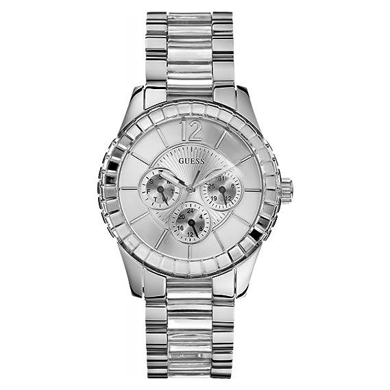 Guess W13582L2 - Reloj analógico de cuarzo para mujer con correa de acero inoxidable, color