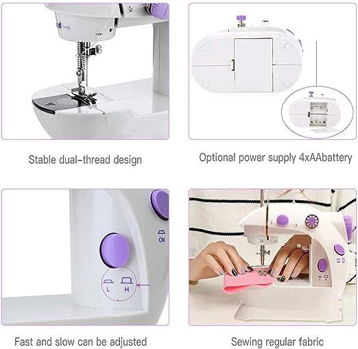 MZBZYU Máquina de Coser eléctrico Miniatura Máquina de Coser de ...