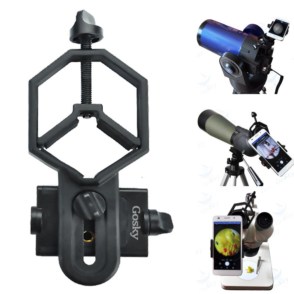 Gosky Big Type Universal Smartphone Adapter Mount for Spotting Telescope Binocular Monocular, Black by Gosky