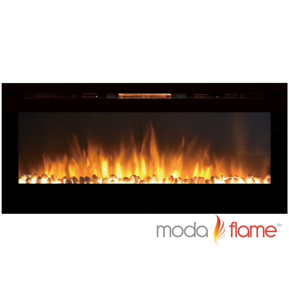 MFE5048WS 50'' Cynergy Built-In Wall Mounted Electric Fireplace - Pebble Stone