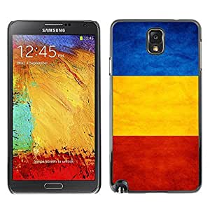 Shell-Star ( National Flag Series-Romania ) Snap On Hard Protective Case For Samsung Galaxy Note 3 III / N9000 / N9005