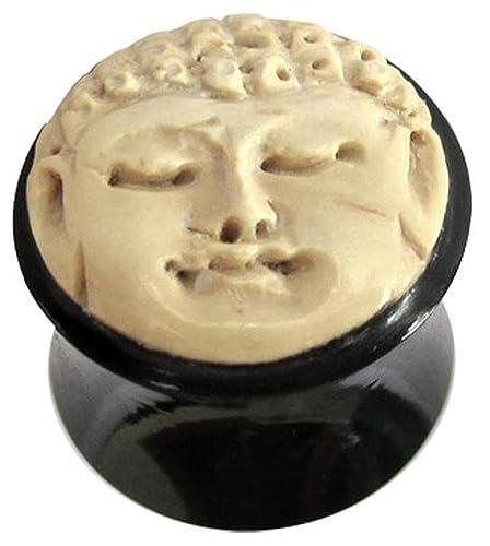 Amazon.com: Organic cuerno plug carne túnel Buda negro ...