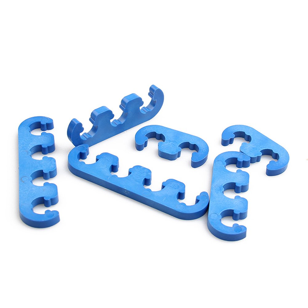 Big-Autoparts 7mm 8mm Plastic Spark Plug Wire Separators Dividers Looms for Ford,Chevy,Jeep,Toyota,Honda ATV SUV,Blue