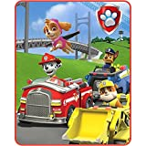 Paw Patrol Throw Blanket Style, Red, Yellow & Blue