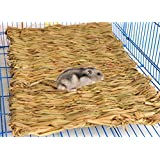Handwoven Straw Nest Cage Mat Pad For Hamster Gerbil Rat Mouse Chinchillas Guinea Pig Squirrel Rabbit Small Animal House Bed Playground