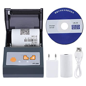 Wendry Mini Impresora Bluetooth Portátil, Bluetooth Portátil ...