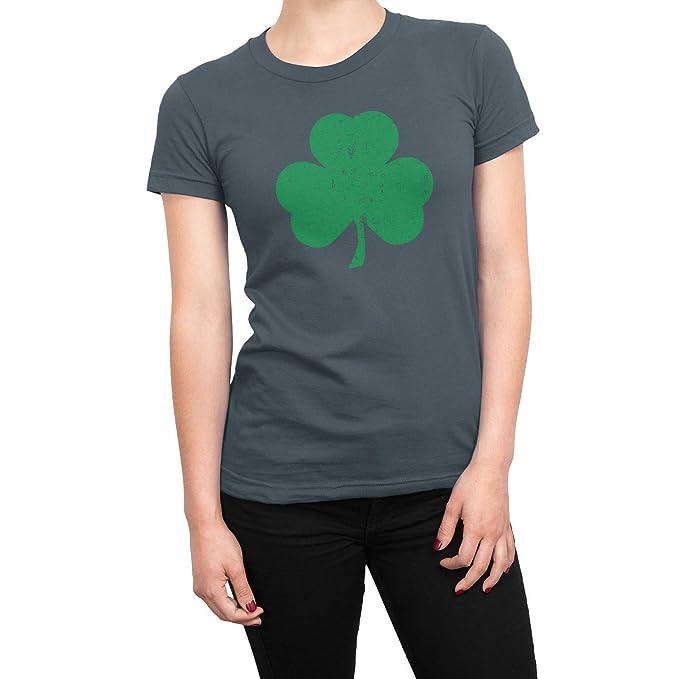 65dd0574b NYC FACTORY USA Screen Printed Ladies Shamrock Tee St Patrick's Day Womens  Irish T-Shirt