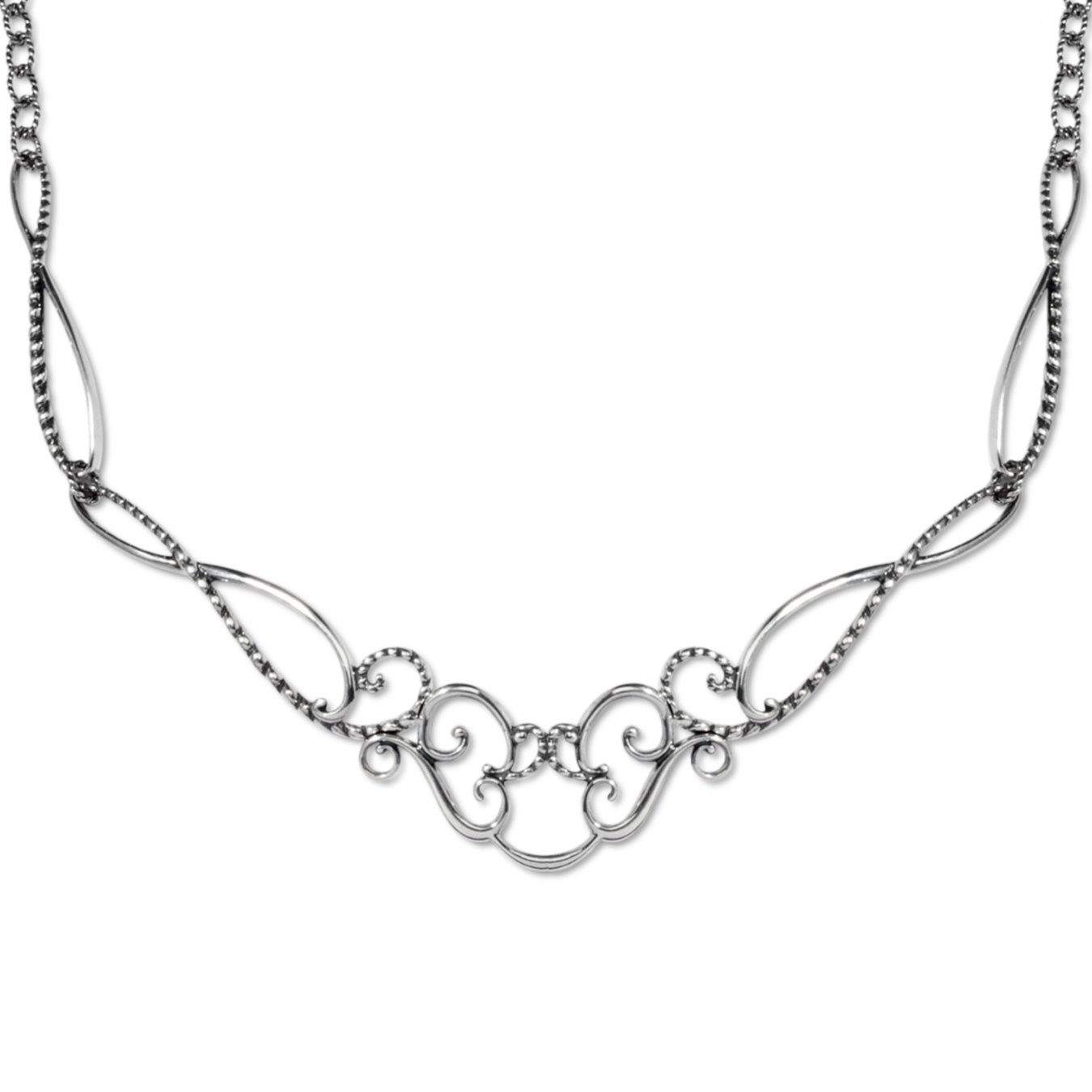 Carolyn Pollack Sterling Silver Statement Necklace