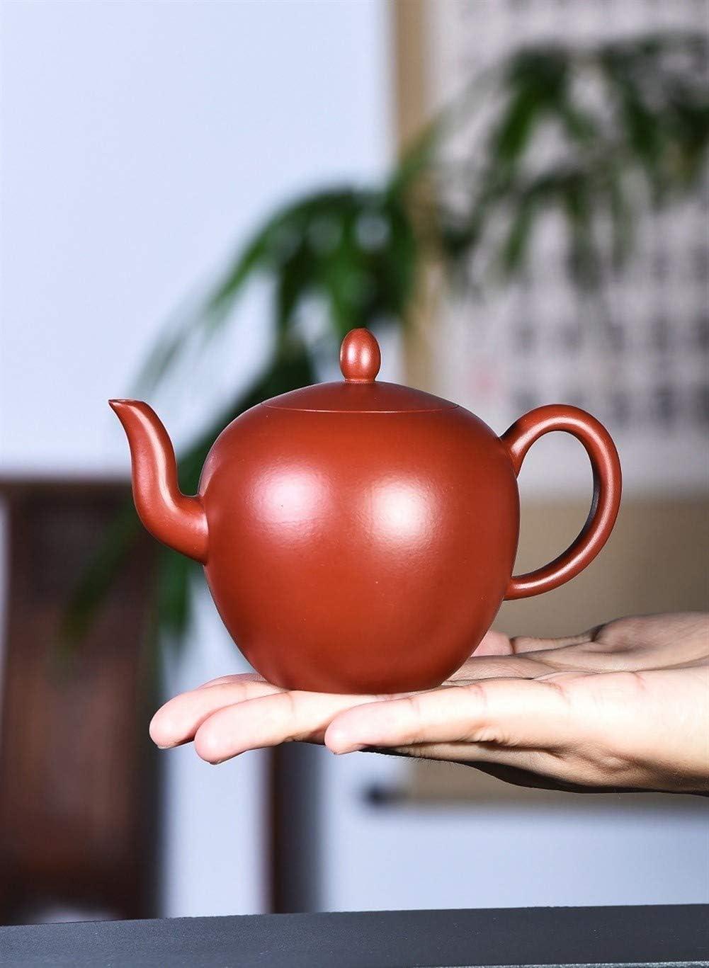 中国のティーポット ティーポット鉱石信頼性の高いDahongpao美人鍋ショートショルダー 宜興粘土のティーポットパープル砂の鍋セラミック鍋 (色 : Purple mud)