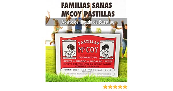 Amazon.com: Pastillas Mccoy Vitamin Nutriceutical Tablets Cod Fish Liver Oil Extra 100 caps: Health & Personal Care