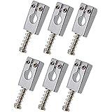 Homyl 6 Piezas Selleta de Rodillos de Cuerda para Guitarra Eléctrica (Color Plata/Negro