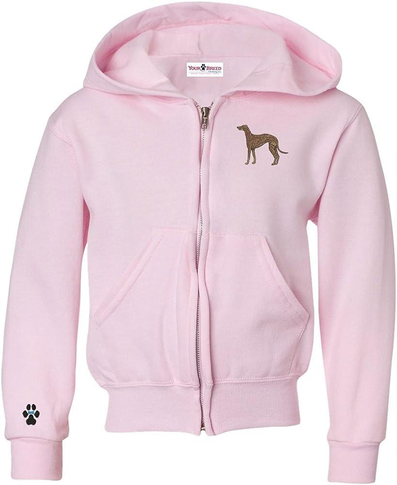 Greyhound Brindle Youth Full Zip Hooded Sweatshirt