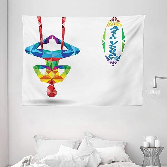 Yoga tapiz por Ambesonne, antena Aero antigravedad Yoga ...