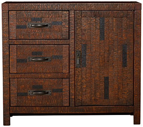 Ashley Furniture Signature Design Vennilux Accent Cabinet 3 Drawers Rustic Brown Buy