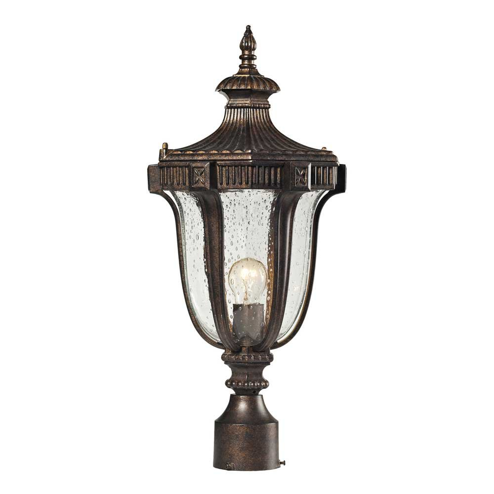 ELK Lighting Sturgress Castle 1-light Outdoor Post Mount, Regal Bronze