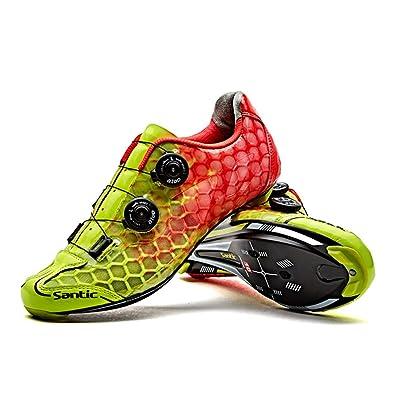 Amazon.com: Santic Ciclismo de carretera zapatos ultraligero ...