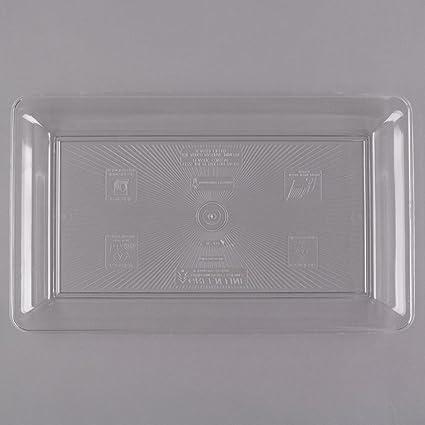 Platter Pleasers Juego de 2 bandejas de plástico rectangulares Grandes/ Bandeja para cafetería/Bandeja