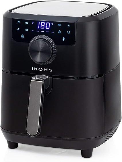 IKOHS HEALTHLY Pro Freidora sin Aceite, Cocina sin Aceite, 8 Programas Preinstalados, 3, 5 l, 1500W, Cesta Antiadherente, Temperatura Cocción 80-200°, Apagado automático, Programable (Negro): Amazon.es