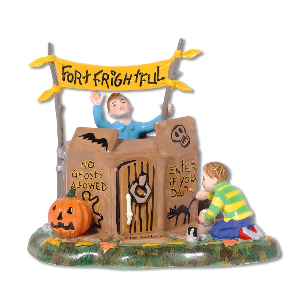 Department 56 Snow Village Halloween Fort Frightful Building