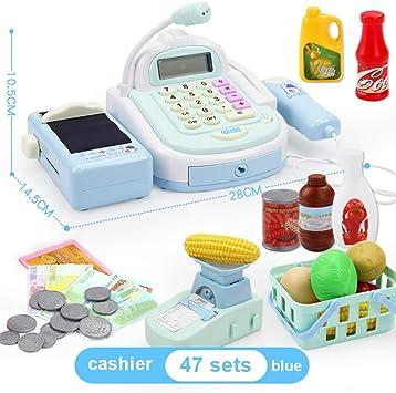 BOBORA Caja Registradora de Juguete con Productos de Supermercado ...