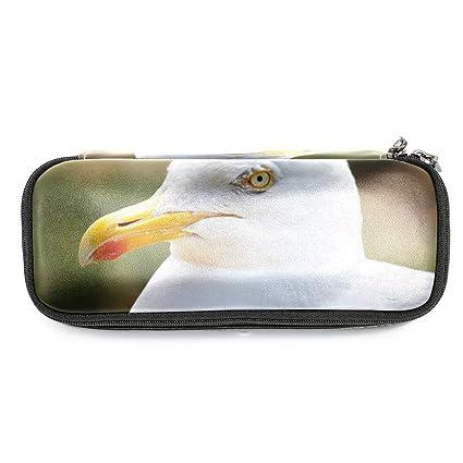 Pájaro Caja de lápices Gran capacidad de cuero impermeable ...
